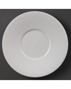 This is an image of a Olympia Saucer for 7oz Low Cup CE536 White - 150mm (Box 12)