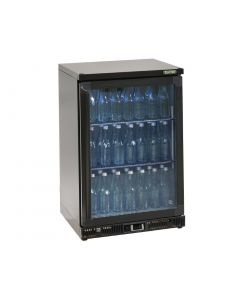 This is an image of a Gamko Bottle Cooler - Single Hinged Door 150 Ltr Black