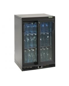 This is an image of a Gamko Bottle Cooler - Single Sliding Door 150 Ltr