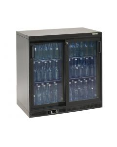 This is an image of a Gamko Bottle Cooler - Double Sliding Door 250 Ltr