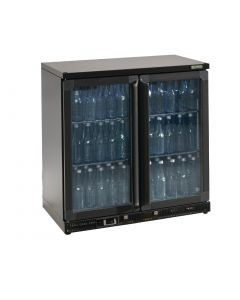 This is an image of a Gamko Bottle Cooler - Double Hinged Door 250 Ltr Black