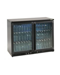 This is an image of a Gamko Bottle Cooler - Double Hinged Door 275 Ltr Black