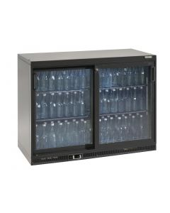 This is an image of a Gamko Bottle Cooler - Double Sliding Door 275 Ltr