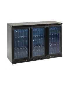This is an image of a Gamko Bottle Cooler - Triple Hinged Door 315 Ltr Black