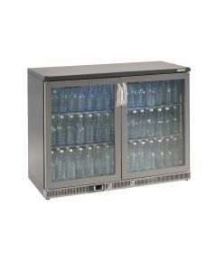 This is an image of a Gamko Bottle Cooler MG Double Hinged Door StSt Trim - 275Ltr (Direct)