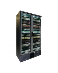 This is an image of a Gamko Maxiglass 2 Glass Door 500Ltr Bottle Cooler Cabinet MG2500G