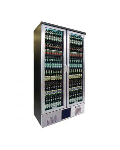This is an image of a Gamko Maxiglass 2 Glass Door 500Ltr Bottle Cooler Cabinet MG2500GCS