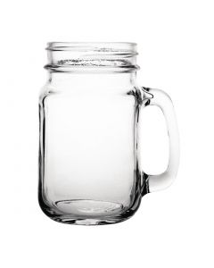 This is an image of a Olympia Handled Drinking Jar - 450ml 16oz (Pack 12)