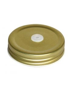 This is an image of a Lid for Olympia Handled Drinking Jar with Straw Hole (Box 12)