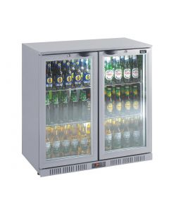 This is an image of a Lec Back Bar Bottle Cooler Hinged Doors 180 Bottles