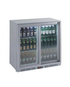This is an image of a Lec Back Bar Bottle Cooler Sliding Doors 180 Bottles