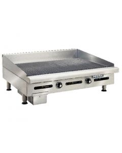 This is an image of a Imperial Thermostatic Ribbed Natural Gas Griddle IGG-36