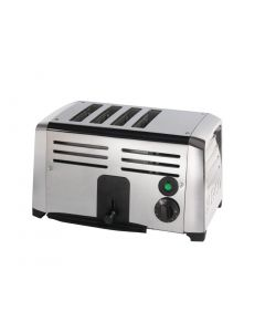 This is an image of a Burco Commercial 4 Slice Toaster TSSL14STA
