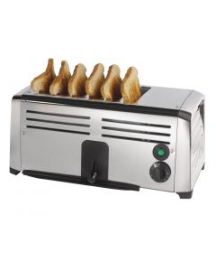 This is an image of a Burco Commercial 6 Slice Toaster TSSL16STA