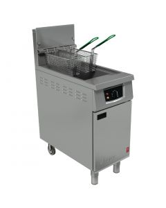 This is an image of a Falcon Natural Gas Fryer with Electric Filtration G401F