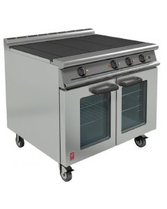 This is an image of a Falcon Dominator Plus Electric Oven Range on Castors E3101 OTC 3HP