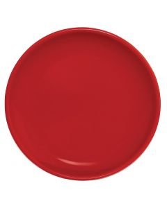 """This is an image of a Olympia Cafe Coupe Plate Red - 205mm 8"""" (Box 12)"""