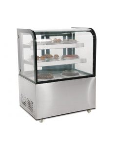 This is an image of a Polar Deli Display with Curved Glass 270Ltr