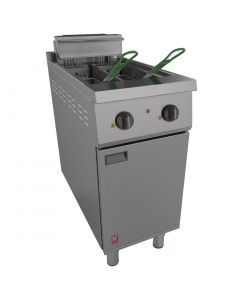 This is an image of a Falcon 400 Series Twin Pan Electric Fryer E421