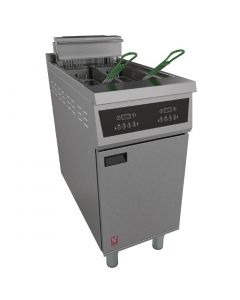 This is an image of a Falcon 400 Twin Pan Programmable Fryer E422