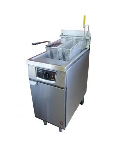This is an image of a Falcon Twin Basket Natural Gas Fryer G2845F