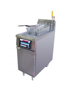 This is an image of a Falcon Infinity Twin Basket Natural Gas Fryer G2844F