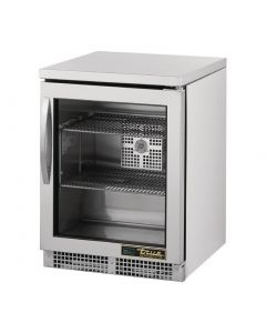 This is an image of a True 1 Glass Hinged Door Under Counter Fridge TUC-24-G-HC
