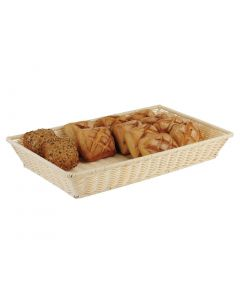 This is an image of a APS Polypropylene Rattan Display Basket 300 x 220mm
