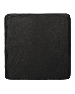 This is an image of a Olympia Natural Slate Display Tray - 130x130mm (Pack 4)