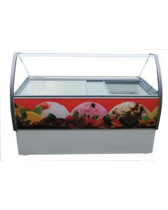 This is an image of a Crystal Venus Elegante 10 Pan Ice Cream Display Counter VenusEle46