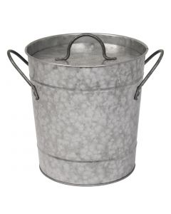 This is an image of a Olympia Ice Bucket Galvanized - 34Ltr