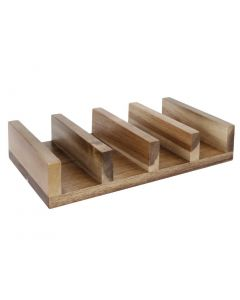 This is an image of a Olympia Wooden Taco Stand  Riser - 275x150x55mm