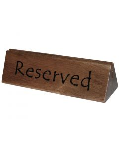 This is an image of a Wooden Reserved SignMenu Holder (Pack 10)