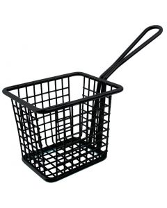 This is an image of a Olympia Square Presentation Basket Black - 80(H)x100(W)x80mmD