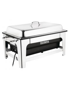 This is an image of a Olympia Electric Chafing Dish - 100mm deep pan with stand