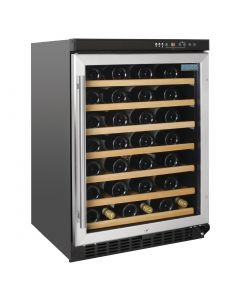 This is an image of a Polar Undercounter Wine Cooler with Stainless Steel Door 54 bottles