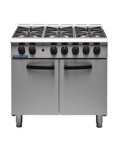 This is an image of a Blue Seal 6 Burner Oven Range Medium Duty LPG G750 6