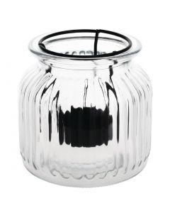 This is an image of a Olympia Glass Tealight Lantern - 115x115x105mm (Box 6)