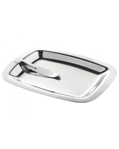 This is an image of a Olympia Stainless Steel Tip Tray with Spring Hold - 150x120mm
