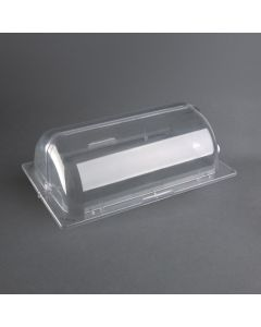 This is an image of a Olympia Polycarbonate Rolltop Cover GN 11 - 535(w)x335(d)x165(h)mm