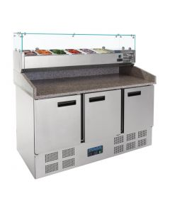 This is an image of a Polar Refrigerated Pizza and Salad Prep Counter 368Ltr