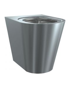 This is an image of a Franke Sissons Floor Stand Toilet Stainless Steel