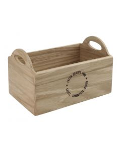 This is an image of a Olympia EUTR Oak Utensil Holder Printed One Side 230x145x135mm