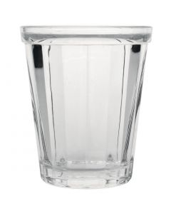 This is an image of a Olympia Cabot Panelled Glass Tumbler Clear - 260ml 9oz (Box 6)