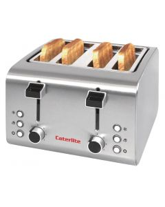 This is an image of a Caterlite 4 Slot Stainless Steel Toaster