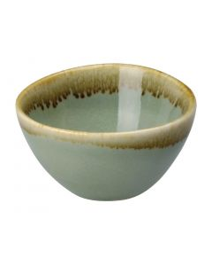 "This is an image of a Olympia Kiln Moss Round Dipping Pot - 68x38mm 2 34x1 12"" 50ml 175oz (Box 12)"