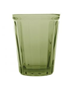 This is an image of a Olympia Cabot Panelled Tumbler Green - 260ml 9oz (Box 6)