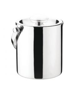 This is an image of a Olympia Double Walled Ice Bucket with Lid 1Ltr