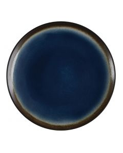 """This is an image of a Olympia Nomi Blue Tapas Round Coupe Plate - 198mm 7 34"""" (Box 6)"""