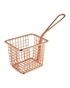 This is an image of a Olympia Square Presentation Basket Copper - 80(H)x100(W)x80mmD